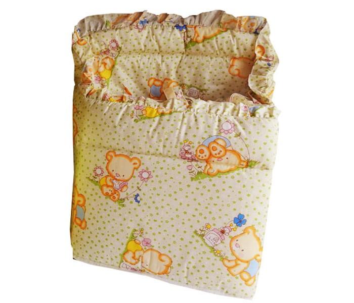 Бортики в кроватку Папитто цельный бортики в кроватку nattou charlotte