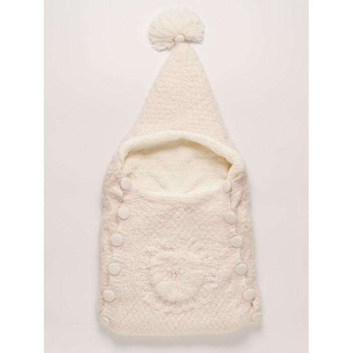 Детская одежда , Демисезонные конверты Папитто Цветок вязаный на пуговицах арт: 357580 -  Демисезонные конверты