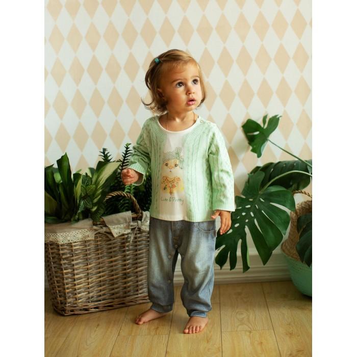 Комбинезоны и полукомбинезоны Папитто Комбинезон для девочки Fashion Jeans 563-01 толстовки и кофты
