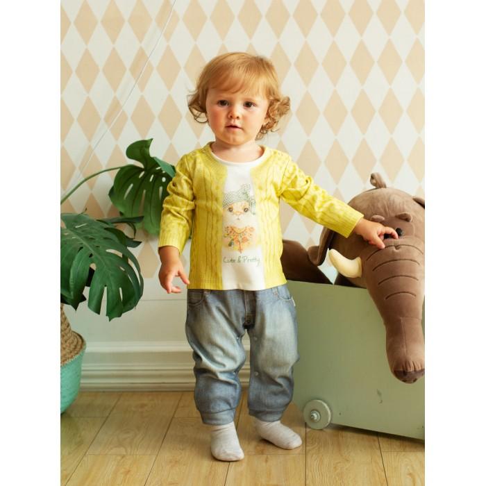 Комбинезоны и полукомбинезоны Папитто Комбинезон для девочки Fashion Jeans 564-01 толстовки и кофты