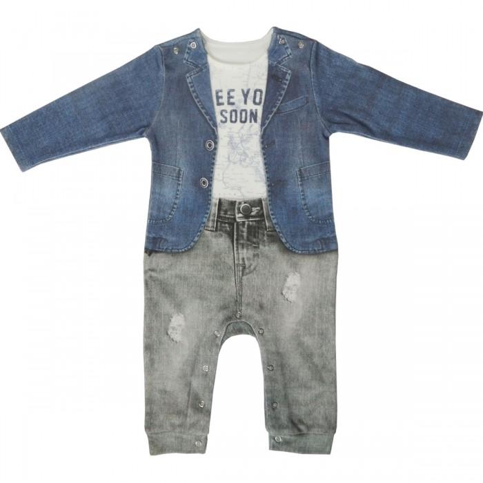 Детская одежда , Комбинезоны и полукомбинезоны Папитто Комбинезон для мальчика Fashion Jeans 553-01 арт: 519426 -  Комбинезоны и полукомбинезоны