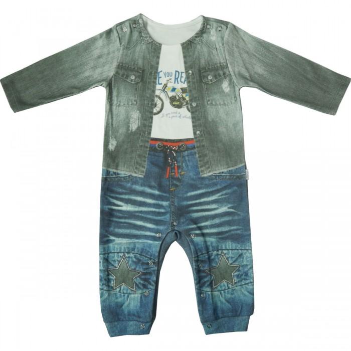 Боди, песочники, комбинезоны Папитто Комбинезон для мальчика Fashion Jeans