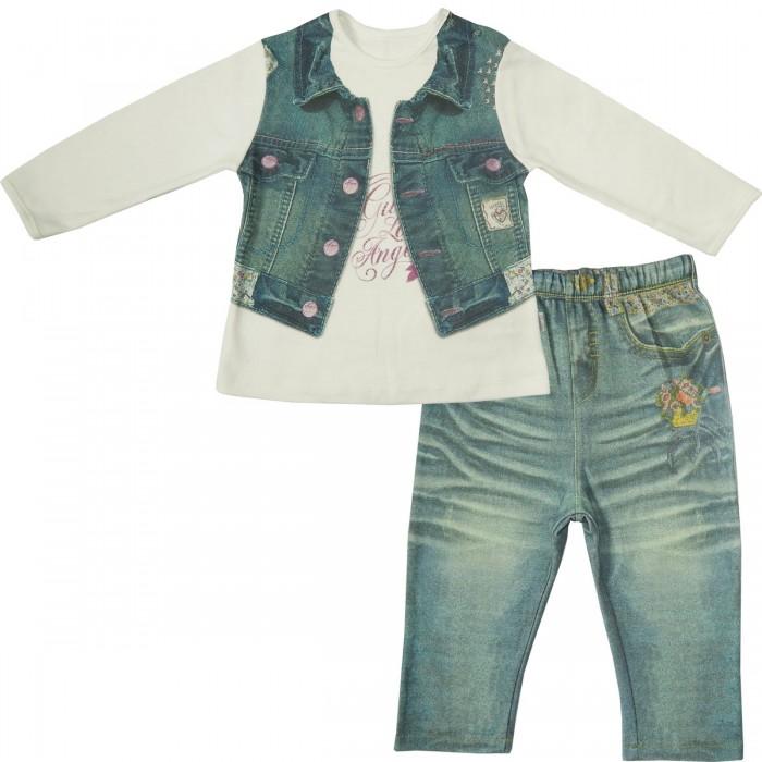Комплекты детской одежды Папитто Комплект (кофточка и штанишки) для девочки Fashion Jeans 593-05, Комплекты детской одежды - артикул:519861