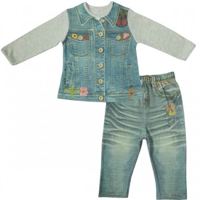 Комплекты детской одежды Папитто Комплект (кофточка и штанишки) для девочки Fashion Jeans 594-05, Комплекты детской одежды - артикул:519906