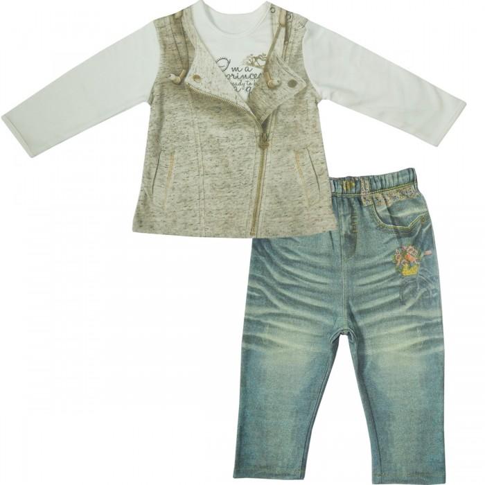 Комплекты детской одежды Папитто Комплект (кофточка и штанишки) для девочки Fashion Jeans 595-05, Комплекты детской одежды - артикул:519951