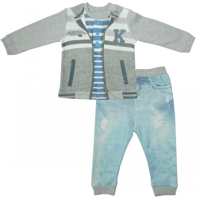 Комплекты детской одежды Папитто Комплект (кофточка и штанишки) для мальчика Fashion Jeans 583-05, Комплекты детской одежды - артикул:519821