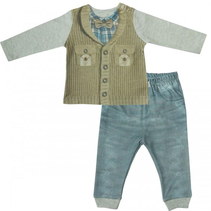 Комплекты детской одежды Папитто Комплект (кофточка и штанишки) для мальчика Fashion Jeans 584-05, Комплекты детской одежды - артикул:519846