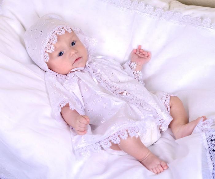 Крестильная одежда Папитто Крестильная рубашка с капюшоном