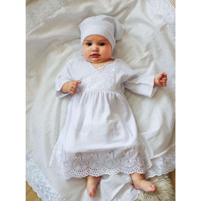 крестильный набор choupette для девочки Крестильная одежда Папитто Крестильный набор для девочки (платье и косынка)