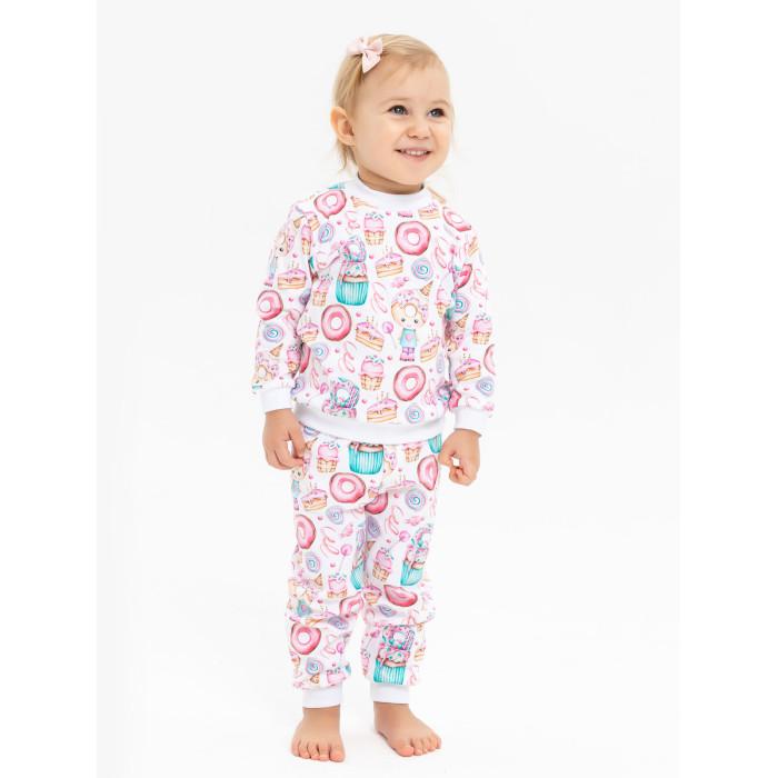 Домашняя одежда Папитто Пижама для девочки (Кофточка и штанишки) Пирожные