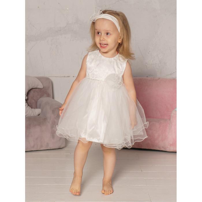 Детская одежда , Детские платья и сарафаны Папитто Нарядное платье 4898 арт: 474791 -  Детские платья и сарафаны