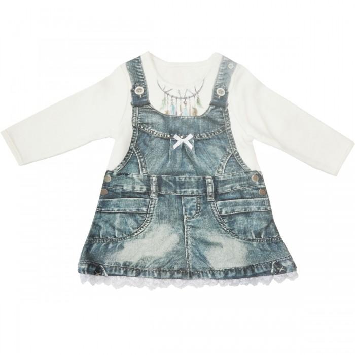 Платья и сарафаны Папитто Платье с длинным рукавом Fashion Jeans 575-07