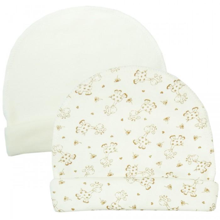 Шапочки и чепчики Папитто Шапочки со швами наружу с отворотом 2 шт. шапочки и шляпки