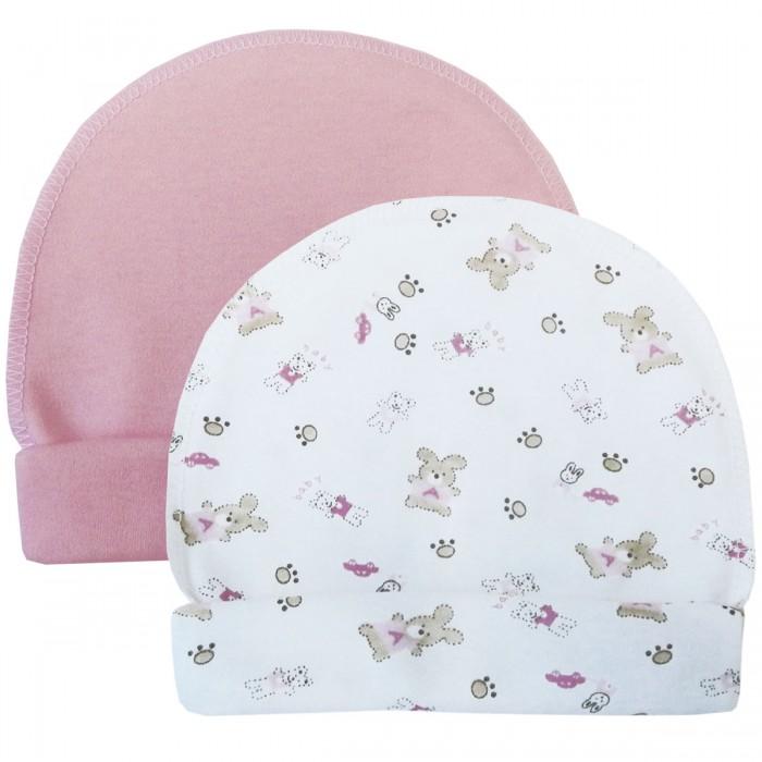 шапочки и чепчики Шапки, варежки и шарфы Папитто Шапочки со швами наружу с отворотом 2 шт.