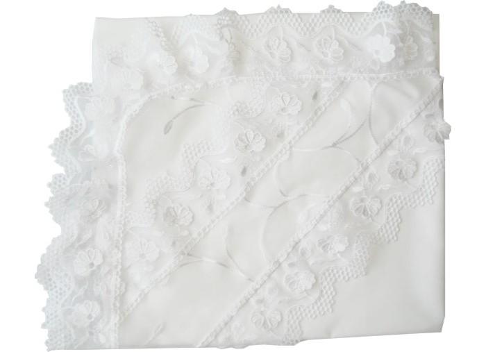 Крестильная одежда Папитто Уголок с органзой микрошелк
