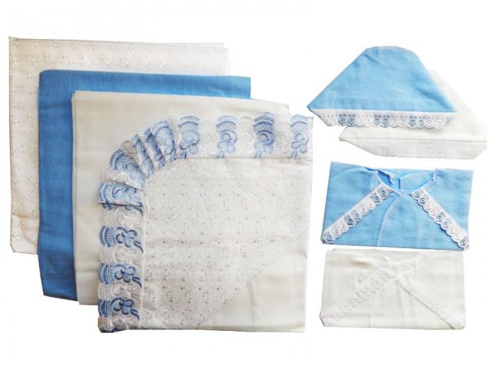 Комплекты на выписку Папитто кружевной (8 предметов) распашонка детская морозко фланель 18