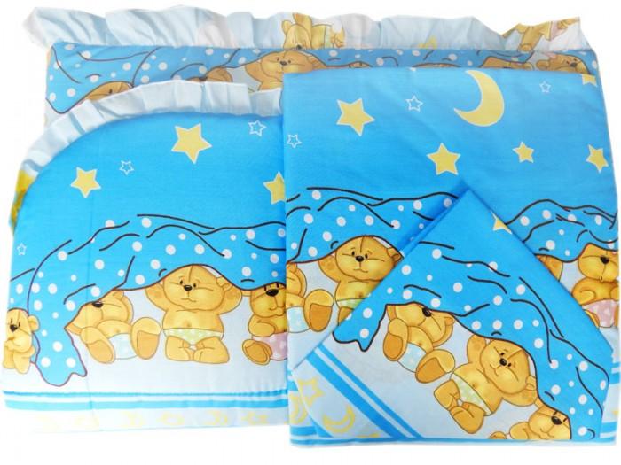 Комплект в кроватку Папитто Борт раздельный высокий + постельное белье 7215Борт раздельный высокий + постельное белье 7215Бампер в кроватку защитит малыша, пока он маленький. И послужит отличным украшением детской кроватки.  Борт раздельный 4-е части, высота 40 см (верх - бязь набивная: хлопок 50%, ПЭ 50%, наполнитель - ПЭ)  В комплект входит: Борт раздельный 4-е части Пододеяльник 147х112 см Наволочка 40х60 см Простыня на резинке 125х60 см  Состав постельного белья: Бязь отбеленная (хлопок 100%)  Внимание! Цвета в ассортименте!<br>
