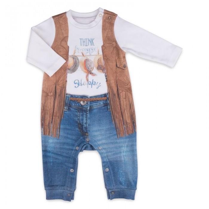 Боди, песочники, комбинезоны Папитто Комбинезон для девочки Fashion Jeans 560-01