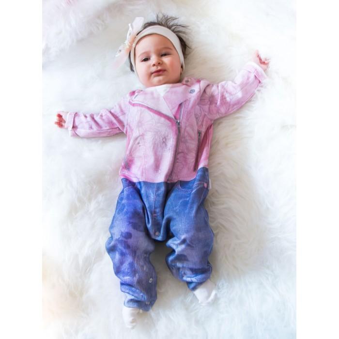 Боди, песочники, комбинезоны Папитто Комбинезон для девочки Fashion Jeans 561-01