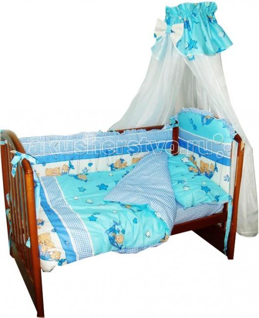 Комплекты в кроватку Папитто Комбинированный (7 предметов)