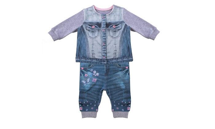 распашонки и кофточки Комплекты детской одежды Папитто Комплект из кофточки и штанишек для девочки Fashion Jeans 590-05