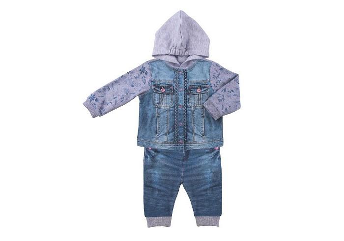 распашонки и кофточки Комплекты детской одежды Папитто Комплект из кофточки и штанишек для девочки Fashion Jeans 592-05