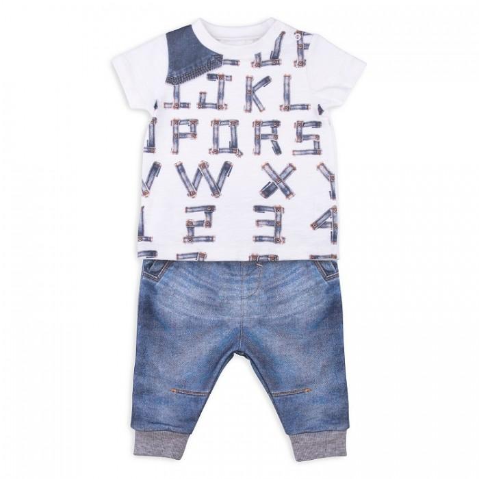 Комплекты детской одежды Папитто Комплект из футболки и штанишек для мальчика Fashion Jeans 510-04