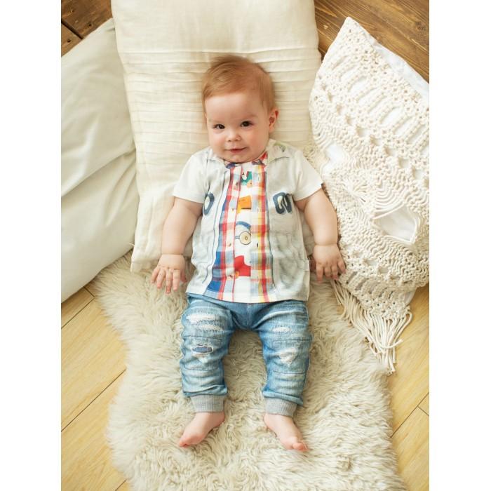 Купить Комплекты детской одежды, Папитто Комплект из футболки и штанишек для мальчика Fashion Jeans 512-04