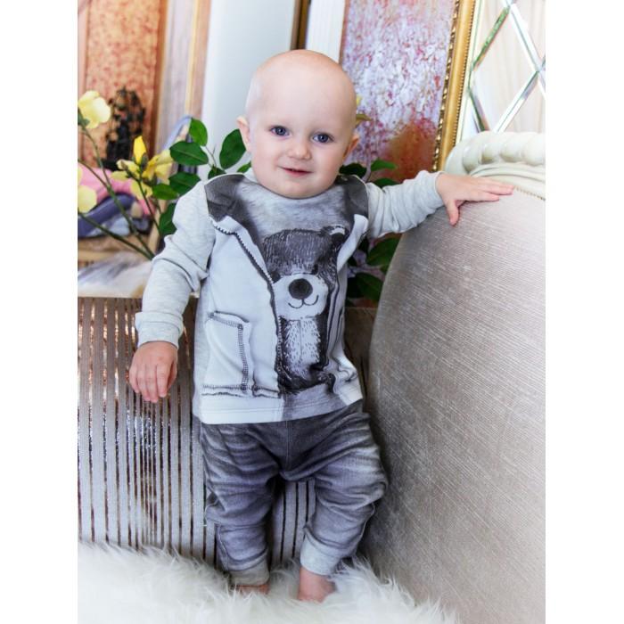 распашонки и кофточки Комплекты детской одежды Папитто Комплект из кофточки и штанишек для мальчика Fashion Jeans 582-05
