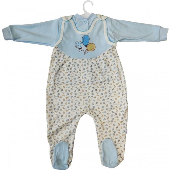 Комплекты детской одежды Папитто Комплект: кофточка и полукомбинезон Воздушные шарики цена 2017