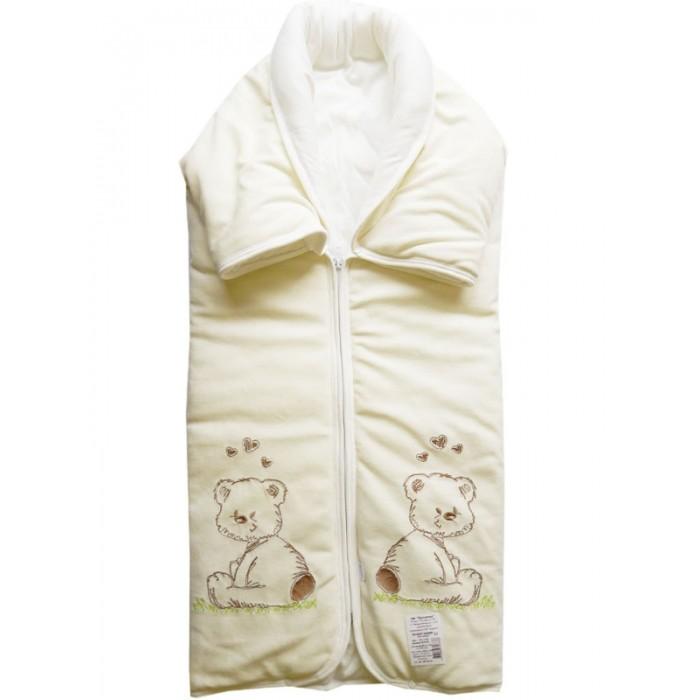 Конверты на выписку Папитто Конверт-одеяло на молнии с вышивкой 82х92 конверты на выписку папитто конверт на выписку мех с чепчиком