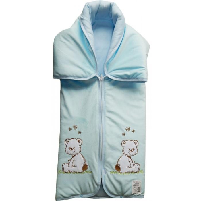 Папитто Конверт-одеяло на молнии с вышивкой 82х92