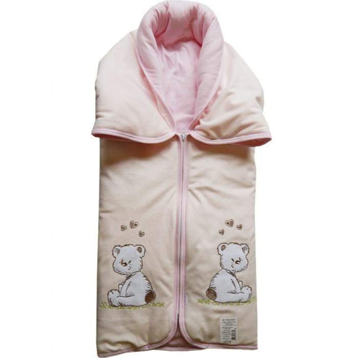 Купить Конверты на выписку, Папитто Конверт-одеяло на молнии с вышивкой 82х92