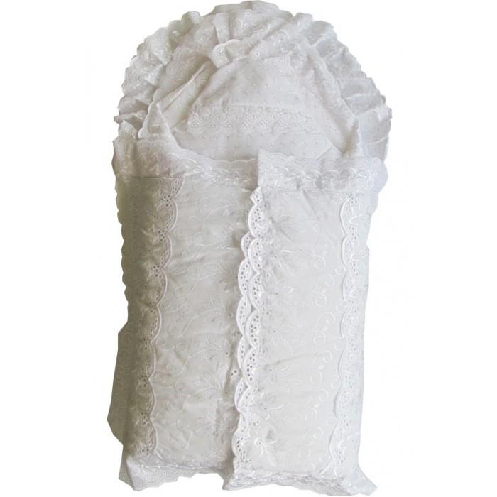 Комплект на выписку Папитто Конверт и одеяло + 7 предметов кружевоКонверт и одеяло + 7 предметов кружевоПродукция изготовлена из качественных, натуральных материалов, поэтому белье Папитто безопасно и гипоаллергенно.  Описание: Конверт кружевной Одеяло атласное 100х100 см Чепчик кружевной Чепчик фланелевый Уголок на выписку  Пеленка бязь отбеленная 120х75 см Пеленка фланелевая 120х75 см Распашонка бязь отбеленная Распашонка фланелевая<br>