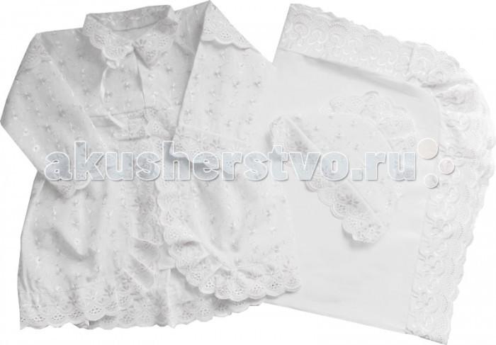 Крестильная одежда Папитто Крестильный набор для девочки 1310 крестильная одежда арго уголок с оборочкой 009 2н