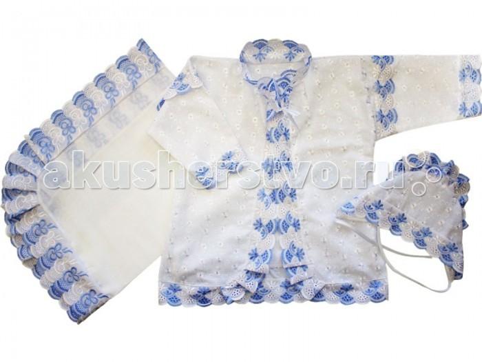 Крестильная одежда Папитто Крестильный набор для мальчика 1312 крестильная одежда makkaroni kids крестильный набор классика для мальчика 0 3 мес