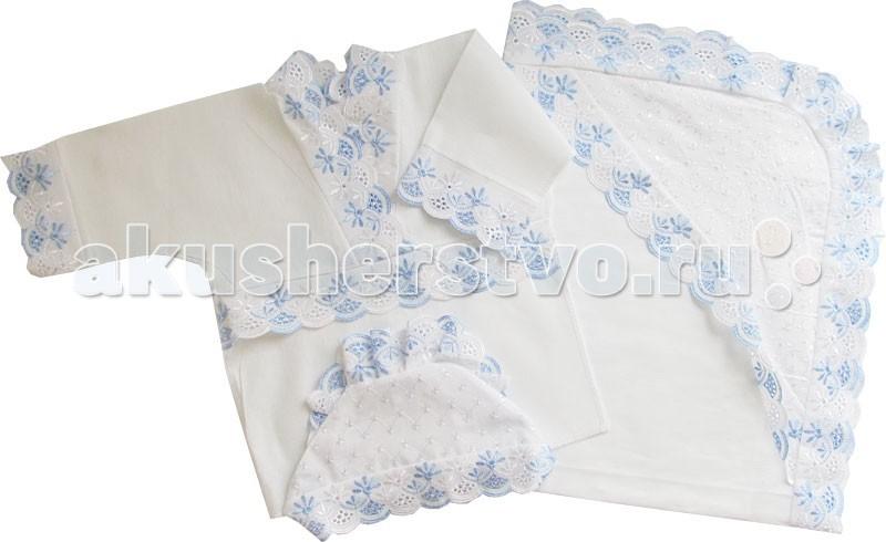 Крестильная одежда Папитто Крестильный набор кружевной универсальный крестильная одежда арго уголок с оборочкой 009 2н