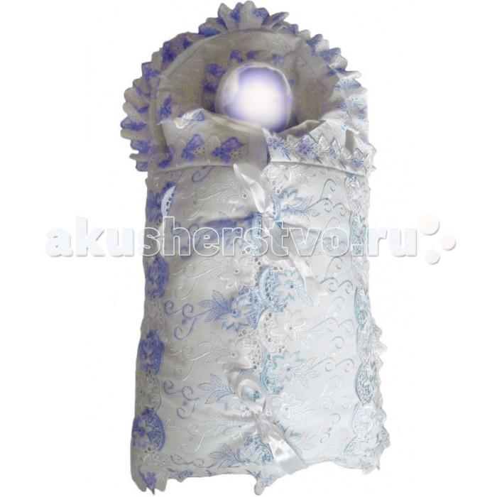 Комплект на выписку Папитто Конверт и одеяло + 7 предметов кружево