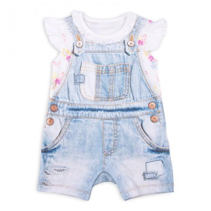 Боди и песочники Папитто Песочник для девочки Fashion Jeans 540-02 боди и песочники idea kids песочник пятнышки