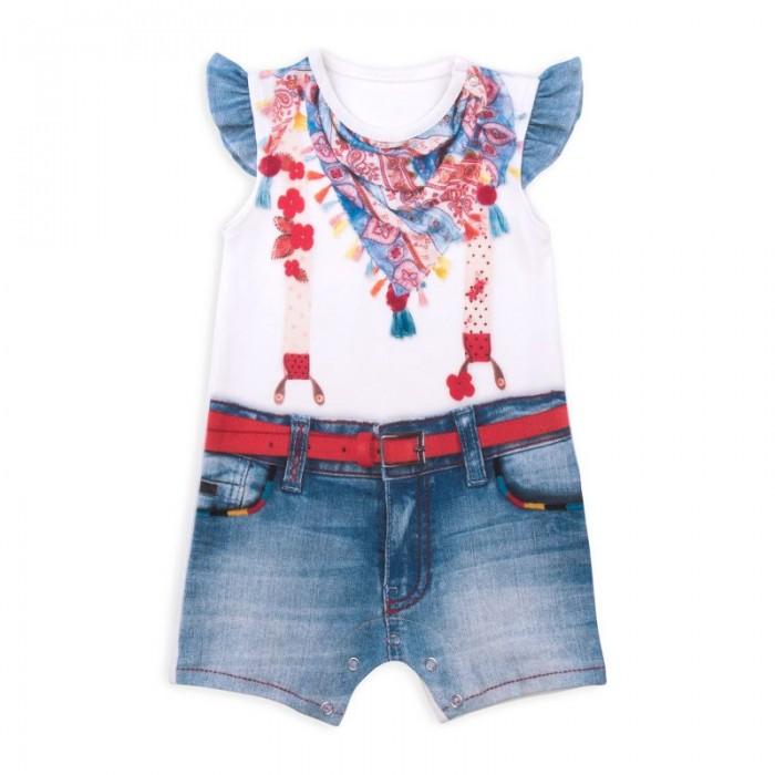 Детская одежда , Боди и песочники Папитто Песочник для девочки Fashion Jeans 541-02 арт: 291691 -  Боди и песочники
