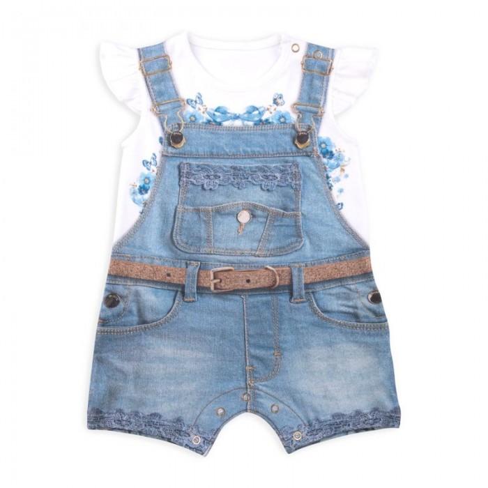 Боди и песочники Папитто Песочник для девочки Fashion Jeans 542-02 боди и песочники idea kids песочник пятнышки