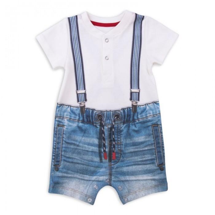 Боди и песочники Папитто Песочник для мальчика Fashion Jeans 531-02