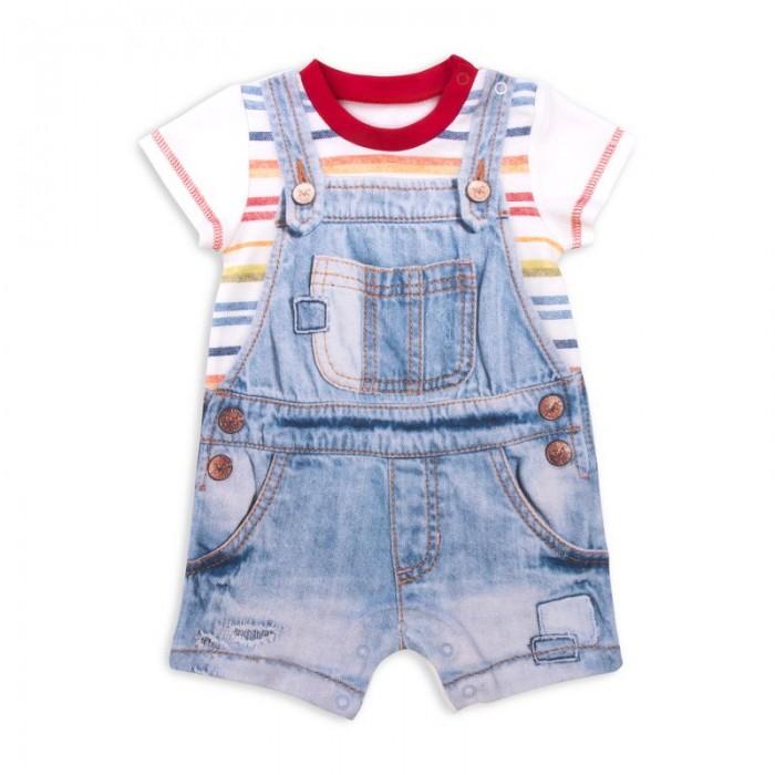Боди и песочники Папитто Песочник для мальчика Fashion Jeans 532-02 боди и песочники idea kids песочник пятнышки