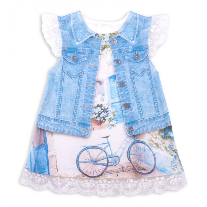 Детские платья и сарафаны Папитто Платье Fashion Jeans 570-03
