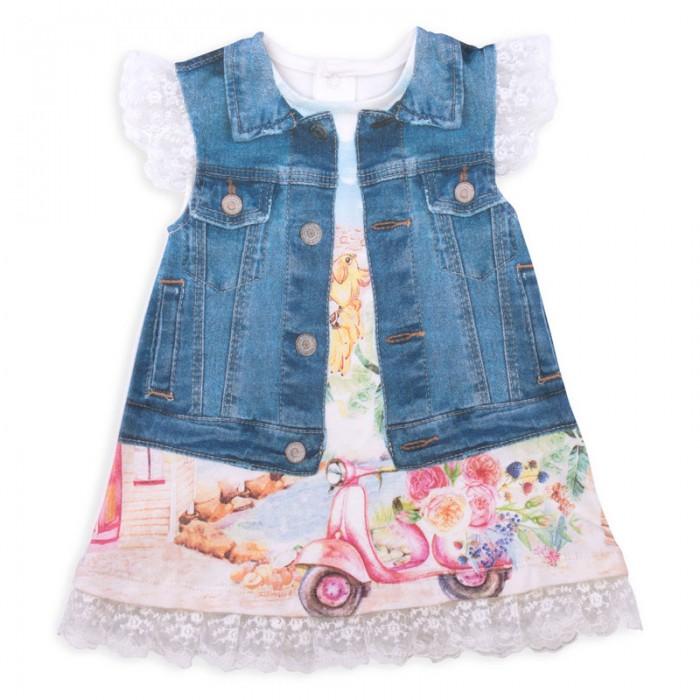 Детские платья и сарафаны Папитто Платье Fashion Jeans 574-03