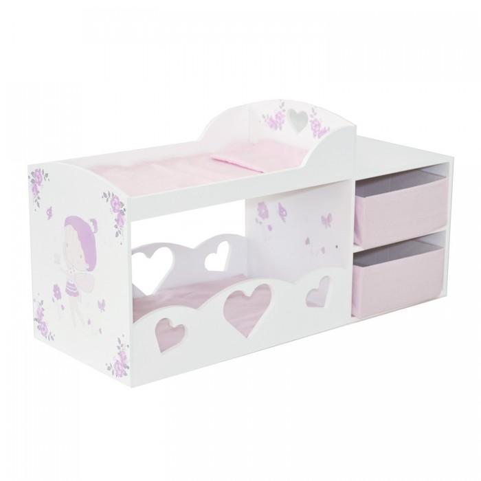 Кроватка для куклы Paremo двухярусная с системой хранения Пьемонт Антонелла Мини