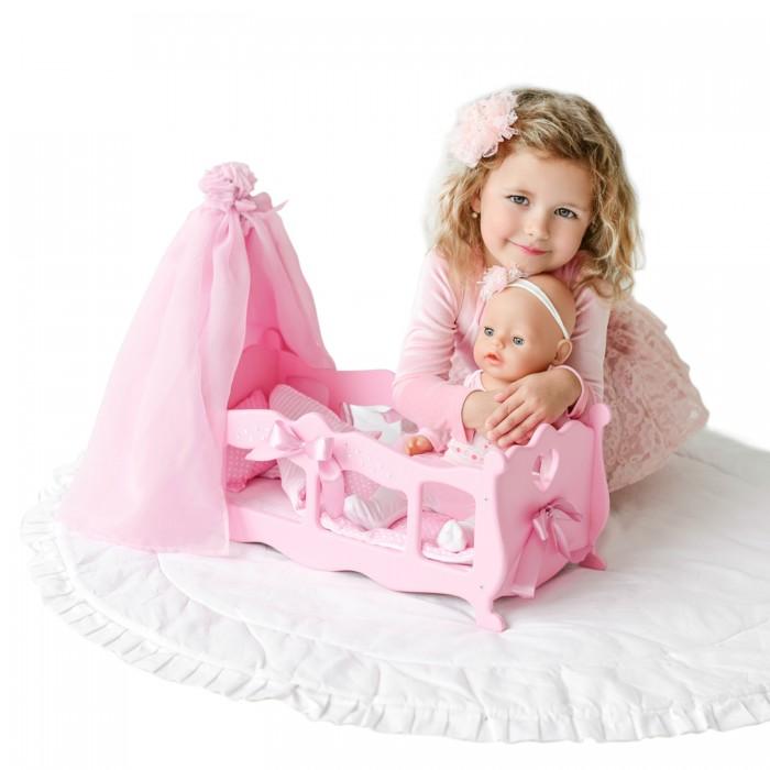 Купить Кроватки для кукол, Кроватка для куклы Paremo колыбелька с постельным бельем и балдахином