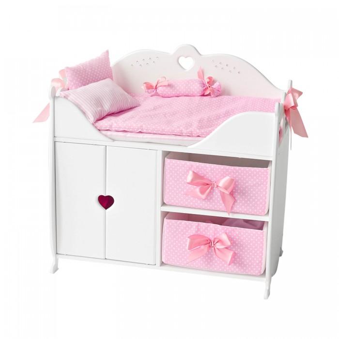 Кроватки для кукол Paremo шкаф с постельным бельем
