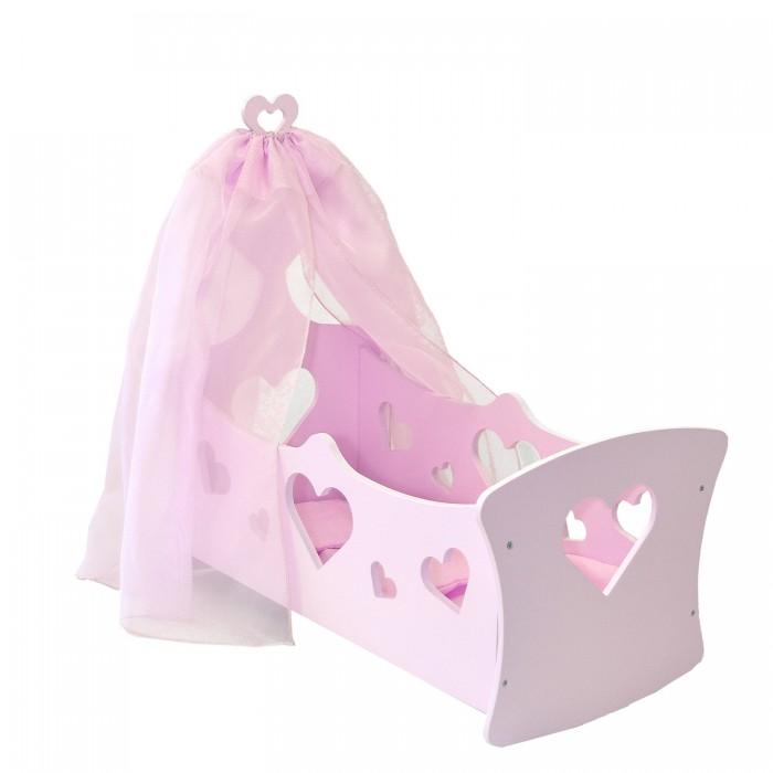 Кроватка для куклы Наша Игрушка люлька с балдахином Совушка