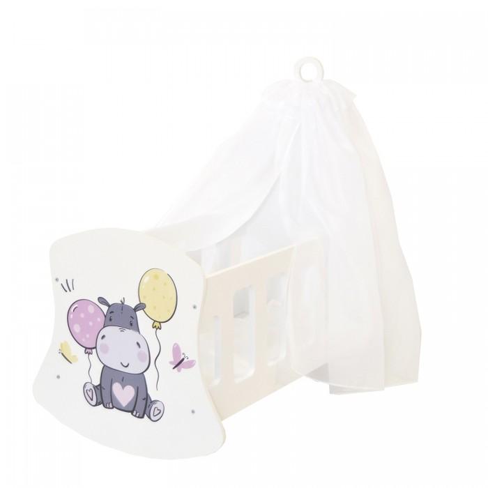 Кроватка для куклы Paremo Люлька с балдахином Мимими Крошка Дори Мини